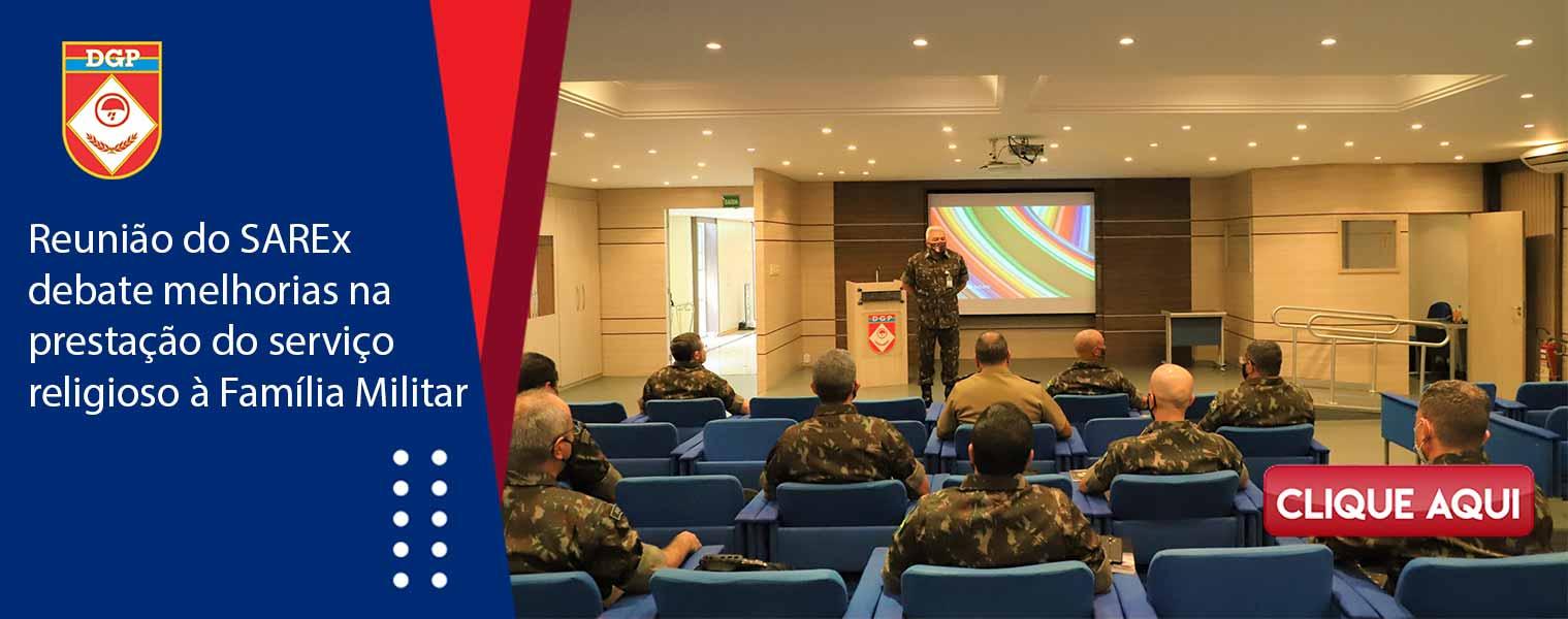 Reunião do SAREx debate melhorias na prestação do serviço religioso à Família Militar