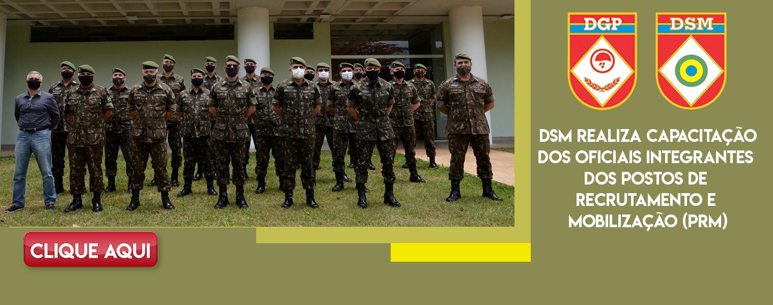 DSM realiza capacitação dos oficiais integrantes dos Postos de Recrutamento e Mobilização (PRM)