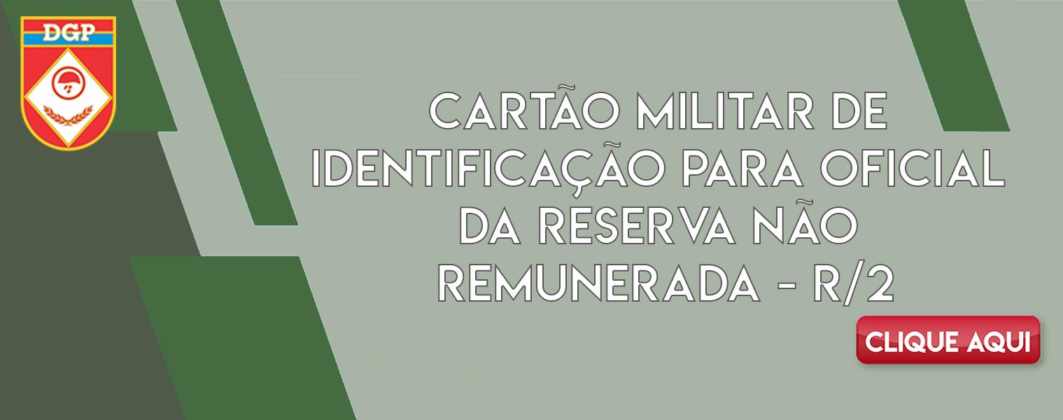 Cartão Militar de Identificação Para Oficial Da Reserva Não Remunerada